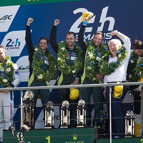 Aston Martin Racing victory at Le Mans in iconic livery