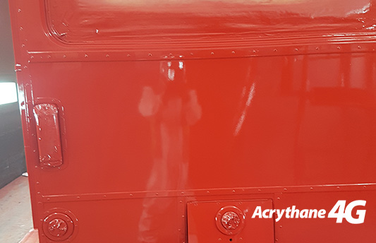 Londong Routemaster Red Bus Paint Commercial Vehicle Topcoat from HMG Paints