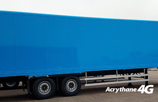 Acrythane 4G Topocoat for Bus and Coach Blue Trailer
